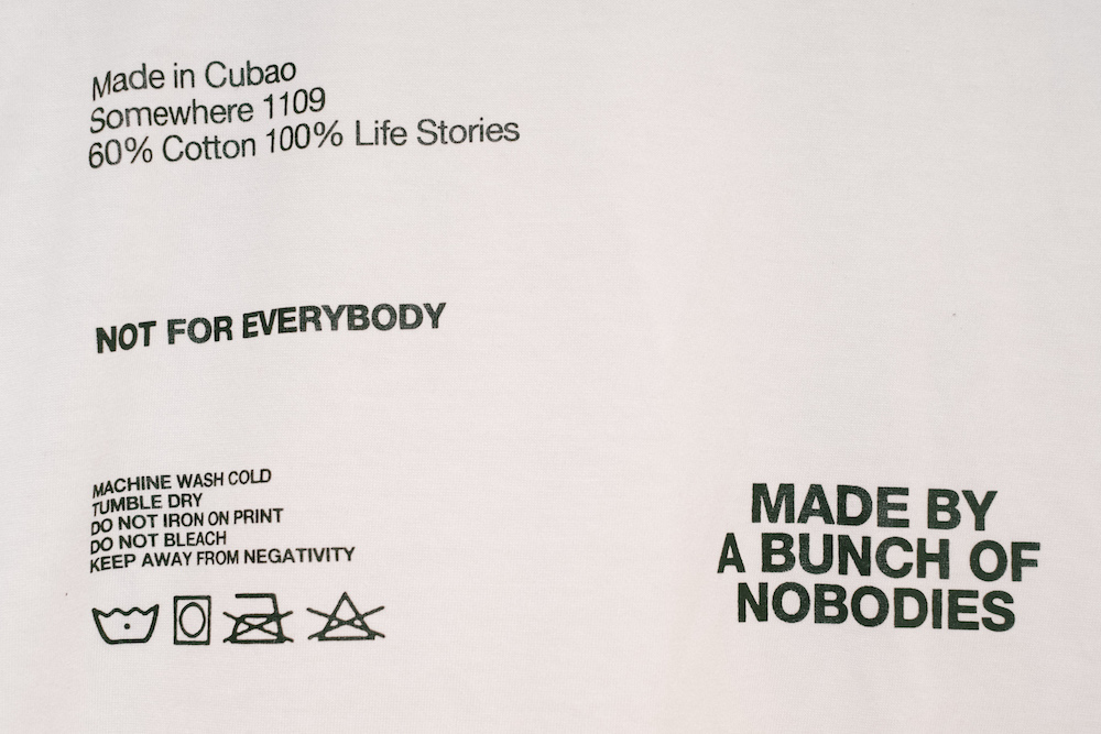 Nobody Clothing, from Cubao.
